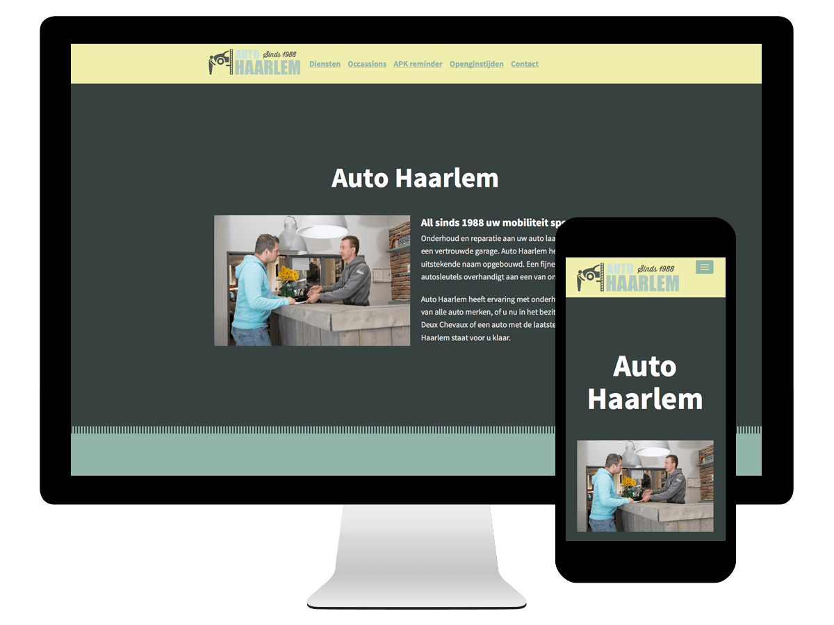 Wordpress Webdesign Auto Haarlem