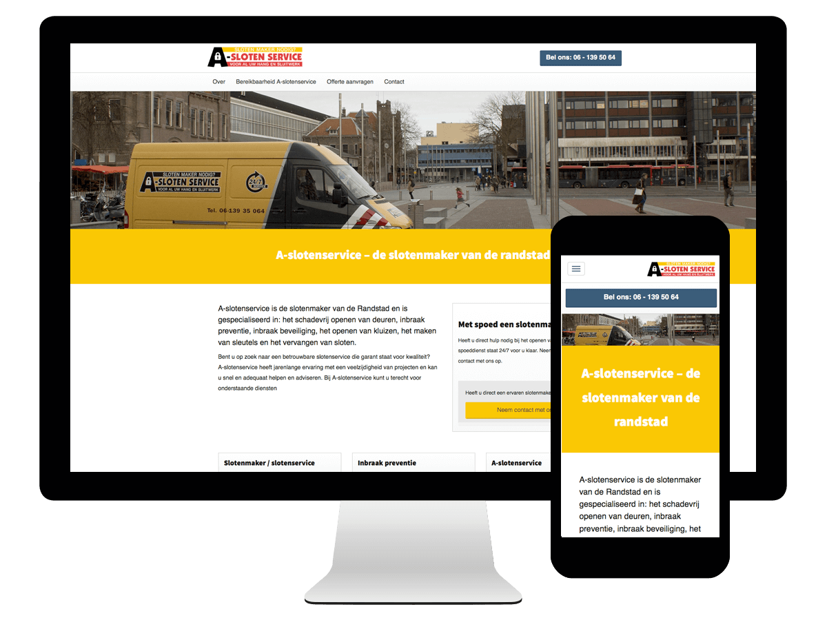 Wordpress webdesign a-slotenservice